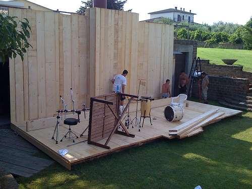Preparazione - fine montaggio palco