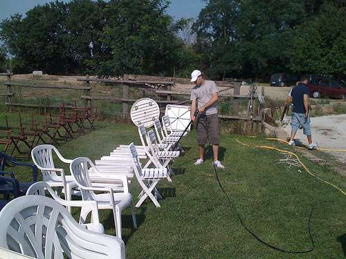Preparazione - pulitura sedie