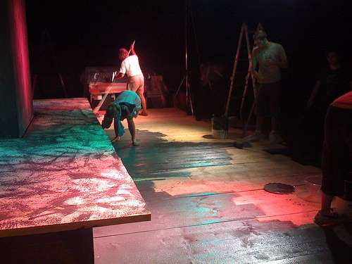 Preparazione - pittura palco