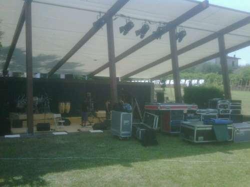 Il nuovo palco con la copertura fissa!